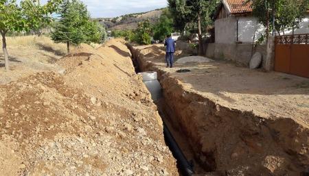 1000 metre yağmur suyu kanalı yaptık